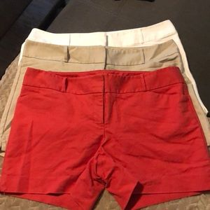 Limited Shorts 3 Pairs - Red, White, and Tan